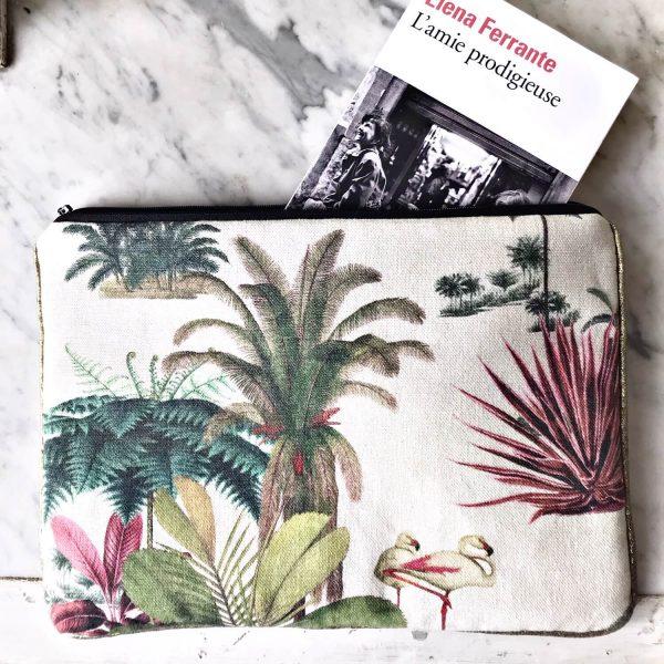 Grande pochette jungle vintage recto