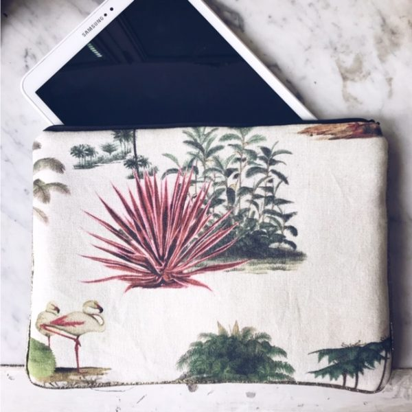 Grande pochette tablette jungle vintage verso