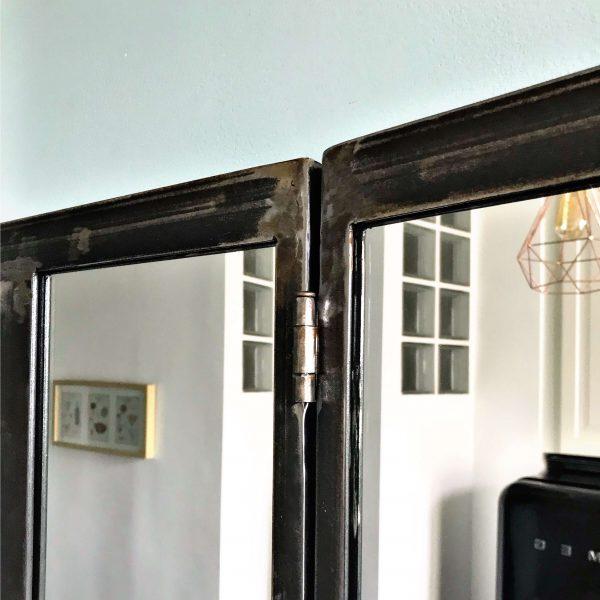 Miroir blaise zoom métal