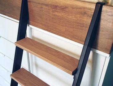 Echelle en bois et acier de DIANE